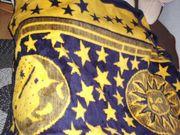 NEUE blau gelbe Kuscheldecke