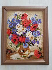 Gobelinbild Blumenstrauß