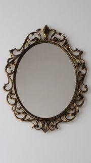 Wandspiegel Messing oval 32 5