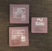 Prozessoren Intel i386 und AMD
