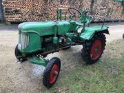 Traktor Oldtimer Güldner mit Verdeck