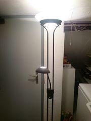 Stehlampe braun 2-teilig dimmbar