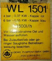 Loewe Wasserknecht WL 1501 Wasserpumpe