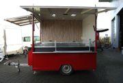 Verkaufsanhänger Imbissanhänger Imbisswagen Döner-Wagen Rot