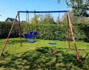 Outdoor Kinder Gartenschaukel Schaukelgestell Doppelschaukel