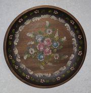 Handbemalter Holzteller