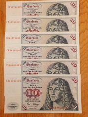 10 DM Scheine 6 Stück