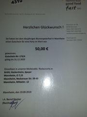 McDonald-Party Gutschein