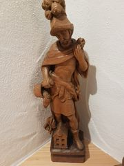 Heiliger St Florian handgeschnitzt von
