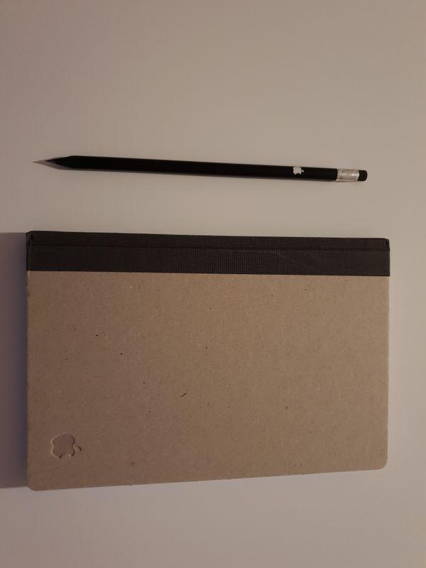 Original Apple Bleistift und Notizblock