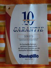 Doppelbett Buche Vollholz mit Dunlopillo