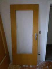 Tür Buche Echtholzfurnier Glasausschnitt mit