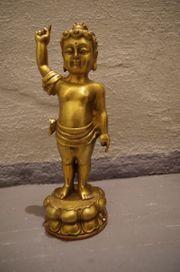 Buddha AMITHABA Engel Kind Bronze