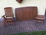Terrassen-Möbel - Set Holz Hellbraun Schwedisches