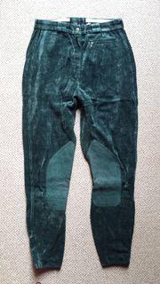 Pikeur-Reithose Gr 84 dunkelgrün Kniebesatz -