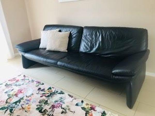 Couchgarnitur LAAUSER Leder schwarz