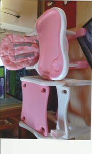 Kinderstuhl weiß rosa