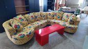 Rundcouch Couch Sofa Polstergarnitur
