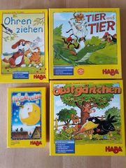 4 Spiele von HABA Tier