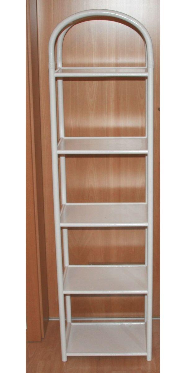 Weißes Holz-Regal - 146 x 40 x 30 cm - vielseitig - Stand-Regal in ...
