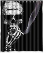 Duschvorhang smoking skull
