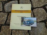 Betriebsanleitung Mercedes W120 180 Dc