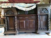 Antiquität Tisch Buffet aus Schloß -