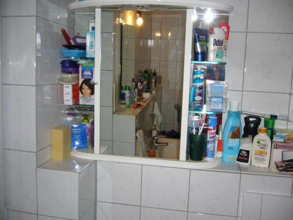 Badspiegelschrank Regal Massage- Brause-Dusche Waschmaschine