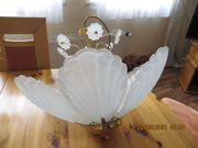 Hängelampe 6-flammig Deckenleuchte Lampe gold