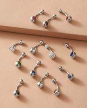 Bauchnabel Piercing Set