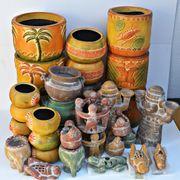 SET Blumenübertöpfe Figuren Teelichter MEXIKO