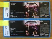 2 original Tickets METALLICA Front