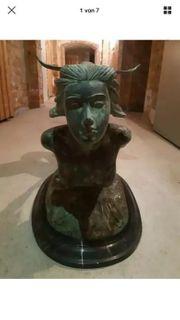 Meerjungfrautisch Bronze Marmor Rarität Antiquität