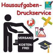 Hausaufgaben-Druckservice Kostenfreier DE Versand