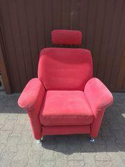 roter Komfort-Wohlfühl-Sessel