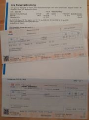 2 Fahrkarten Deutsche Bahn Köln -