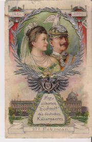 Postkarte zur silbernen Hochzeit des
