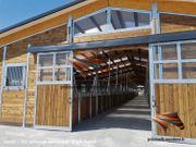 Pferdestall bauen Aussenboxen Pferdeboxen Offenstall