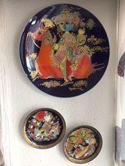 3 Porzellan-Teller Aladin und die