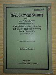 Reichskassenordnung RKO 06 08 1927