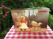 Märklin historischer Puppenwagen mit Puppe