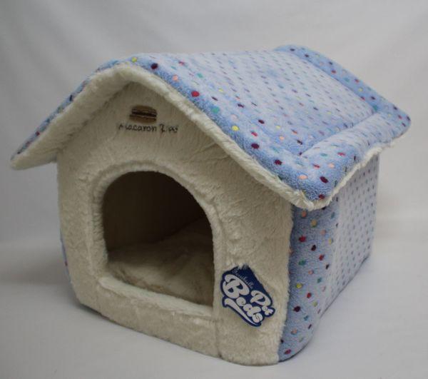 Hundehütte Modell Modell Morbida blau