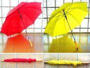 2 Automatik Regenschirme 1x ROT