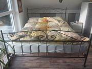 Handgefertigtes Metall Bett natur 160x200