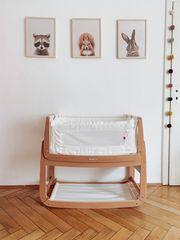 SnüzPod3 Baby-Beistellbett 3-in-1 aus Buchenholz