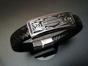 Armband aus echt Leder geflochten