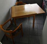 Kl Tisch Holz 90x90 150