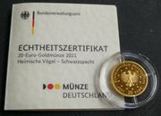 20 Euro Goldmünze 2021 Schwarzspecht