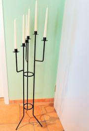 Kerzenständer aus Schmiede-Eisen mit Kerzen