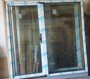 Balkontüre Seitenteil großes Kunststoffelement außen